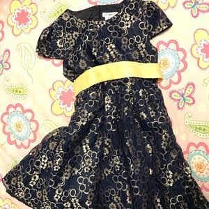 🎈Stuning party blue & gold dress - NWOT